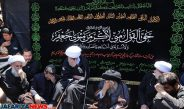 Mourners with Ayat Khorasani condole Hazrat Masumeh (as) on her grandfather martyrdom Day