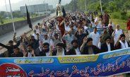 Mukhtar Org protests for Al-Baqee Restoration