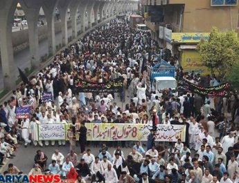 Rawalpindi Muree Road Baqee Protest