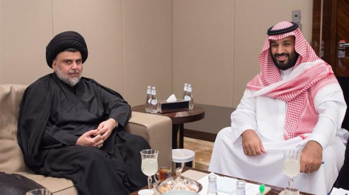 Moqtada al-sadr meeting with Saudi Crown Prince