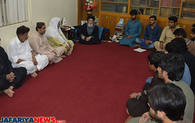 Mukhtar Students Or office bearers meet Agha Hamid al-Mosvi