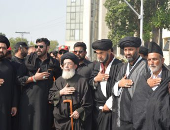 We are Hussainis, could'nt be scared by the flags of ISIS, Moosavi