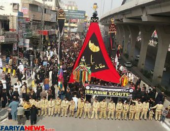 Imam Hussain (A.S) thwarted the biggest attack against Tauheed and Risalah, Arbaeen observed across Pakistan